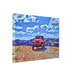 Lona de la aventura de la montaña del jeep lienzo envuelto para galerías