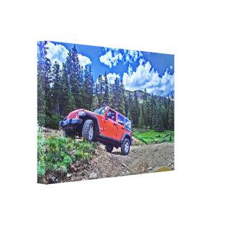 Lona de la aventura del jeep lienzo envuelto para galerías