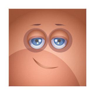 Lona de la burbuja de Brown Cutie Impresion En Lona