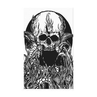 lona de la capa del cráneo impresión en tela