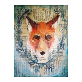Lona de la cara del Fox Lona Envuelta Para Galerias