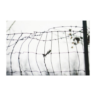 Lona de la cerca de alambre impresion de lienzo