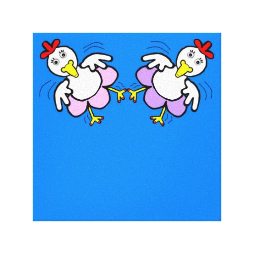 Lona de la danza del pollo impresión en lona