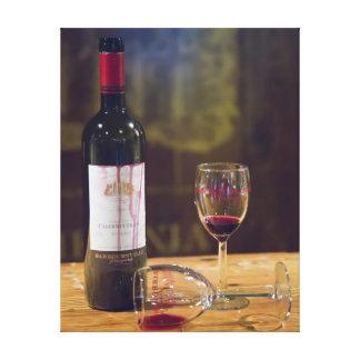 Lona de la degustación de vinos impresión en lienzo