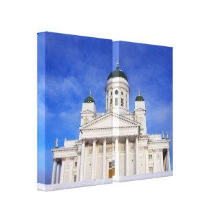 Lona de la díptica de Tuomiokirkko de la catedral  Lienzo Envuelto Para Galerías