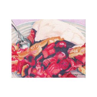 Lona de la empanada de ruibarbo de la fresa impresión en lona estirada