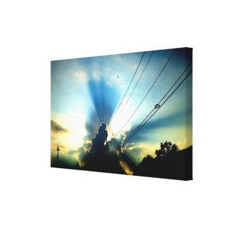 Lona de la EXPLOSIÓN de THE SUN Impresión En Lienzo
