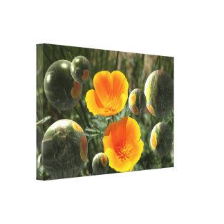 Lona de la fantasía de la amapola lienzo envuelto para galerias