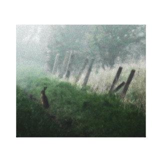 """Lona de la foto de la bella arte """"las liebres que  impresión en lona estirada"""