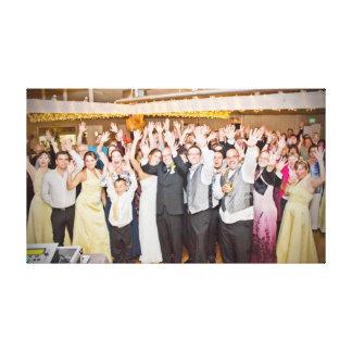 Lona de la foto del boda de Allison y de Rob Lona Estirada Galerias