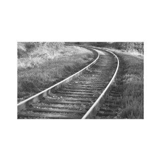 Lona de la impresión de las pistas ferroviarias