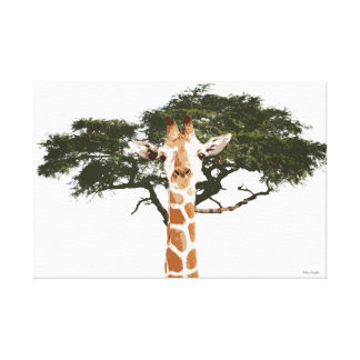 Lona de la jirafa impresiones de lienzo