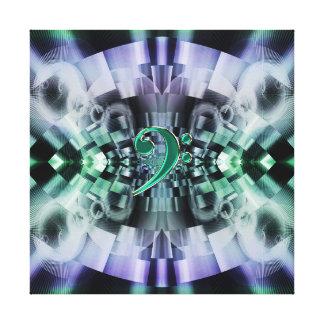 Lona de la mandala del fractal de la música del lona envuelta para galerias