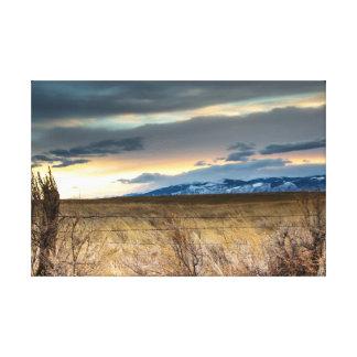 Lona de la montaña del Bighorn Impresión En Lona Estirada