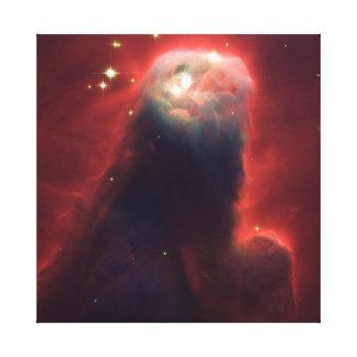Lona de la nebulosa del cono impresión de lienzo