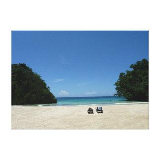Lona de la pared de la foto de Jamaica de la playa Impresión En Lona Estirada