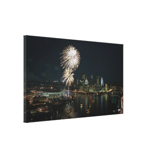 Lona de la pared de la foto de Pittsburgh Lona Envuelta Para Galerias