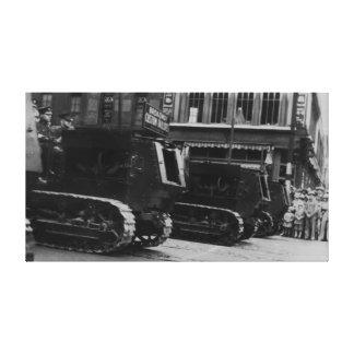 Lona de la pared de los tanques de ejército del vi impresion de lienzo
