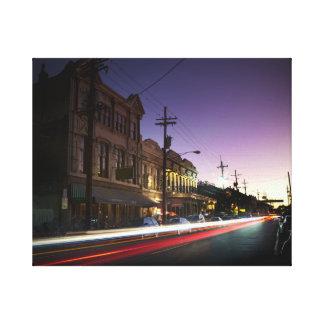 lona de la parte alta de la puesta del sol de New  Impresiones En Lona Estiradas