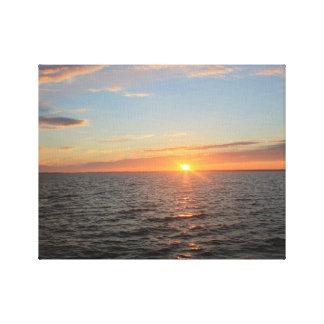 Lona de la puesta del sol impresiones en lona