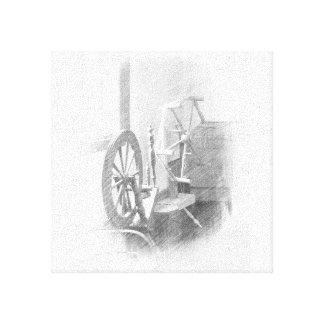 Lona de la rueda de hilado lienzo envuelto para galerias
