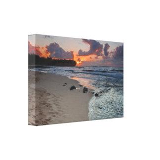 Lona de la salida del sol de la playa del naufragi lona estirada galerías