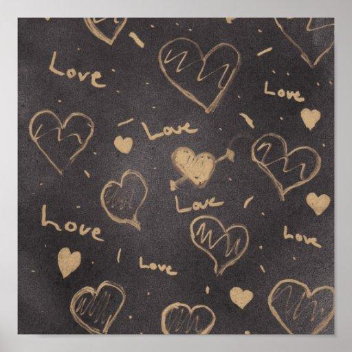 Lona de la serie del amor poster