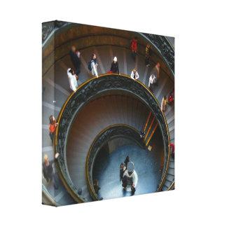 lona de las escaleras circulares impresiones de lienzo