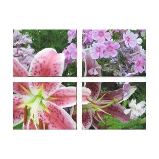 Lona de las flores del bonito - el panel 4 impresion en lona