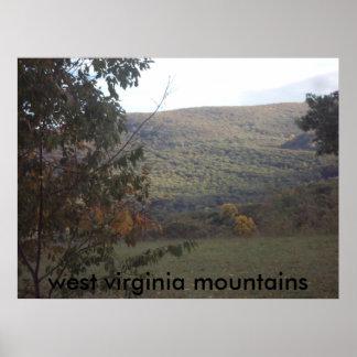lona de las montañas póster