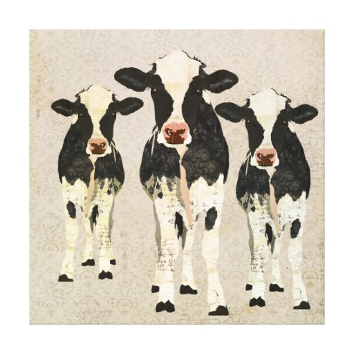 Lona de las vacas del ónix y de la marfil impresión en lienzo