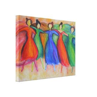 Lona de los bailarines impresión en lona