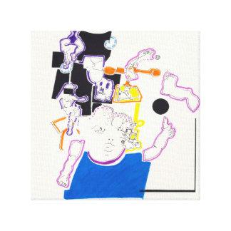 Lona de los dibujos 14 de la noche y de la siesta  lona estirada galerias