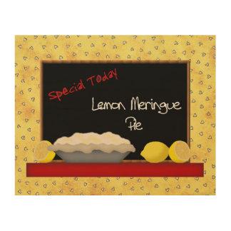 Lona de madera de empanada de merengue de limón cuadros de madera