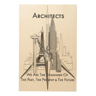 Lona de madera de los arquitectos impresión en madera
