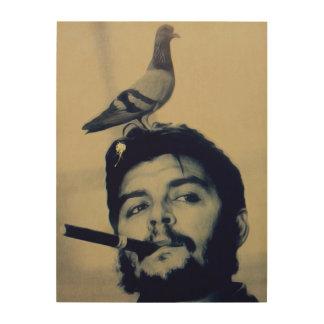 Lona de madera de Poo Che Guevara de la paloma Impresiones En Madera