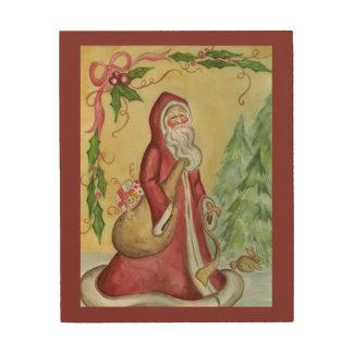 Lona de madera del navidad del padre impresiones en madera