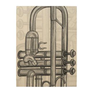 Lona de madera musical de las válvulas de la cuadro de madera