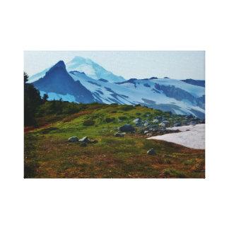Lona de Mt Baker Lienzo Envuelto Para Galerías