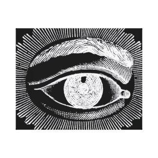 Lona de observación del ojo del vintage imprimir impresiones en lona
