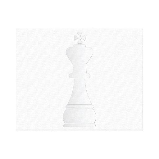 lona de pedazo blanca de ajedrez del rey lona estirada galerías