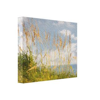 Lona de pintura al óleo de la avena del mar falsa lienzo envuelto para galerias