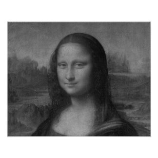 Lona de pintura al óleo de Mona Lisa Póster