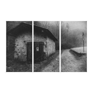 Lona de pintura al óleo silenciosa blanco y negro  lona estirada galerías