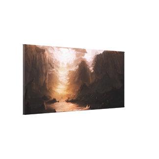 Lona de pintura de la esperanza lona envuelta para galerías