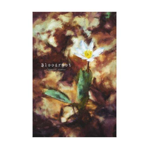 Lona de pintura de la flor salvaje de la primavera lienzo envuelto para galerias