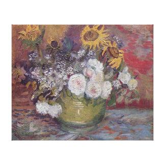 Lona de pintura de los girasoles de Vincent Willem Impresiones En Lona Estiradas