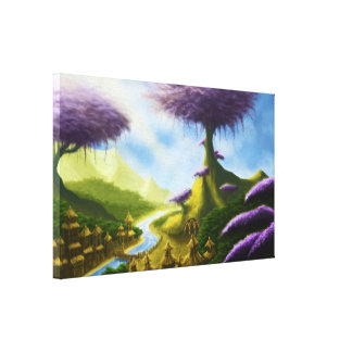 lona de pintura de paisaje de la fantasía del para lienzo envuelto para galerías