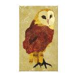 Lona de rubíes de oro del búho impresiones en lienzo estiradas