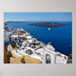 Lona de Santorini Impresiones